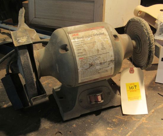 """1/2"""" Ace bench grinder with buffing wheel (tests good)"""