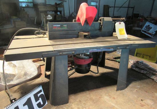 Craftsman deluxe router table with router (tests good)