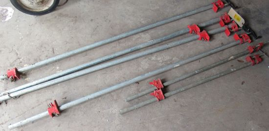 """pipe clamps (4) are 3/4"""" (2) are 1/2"""""""