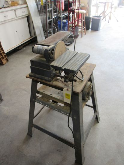 """Craftsman sanding station  4"""" wide belt sander 6"""" disk sander on stand 110V (tests good)"""