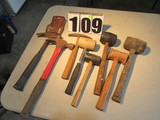 assorted mallets and hammers