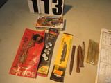 mixed items nut splitter set, new dowel center set, Schlage B100 series deadbolt installation kit, s