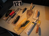 mixed trowels for drywall, concrete, tile work