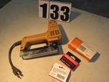 Swingline electric nail gun for finishing nails works great for trim comes with 2 boxes of nails