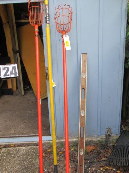 pair bulb changers, level, aluminum extendo paint roller pole