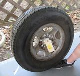 245 75/16 spare tire fits GM truck