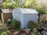 8x10 metal storage building (buyer disassembly required)