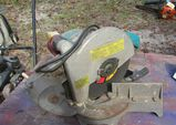 Makita miter saw with abrasive wheel