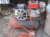 6hp Mitsubishi twin cylinder gas powered air compressor