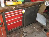 Craftsman tool cabinet work bench combo with tools