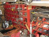 small parts bins with fasteners