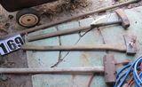 sledge hammers, axe