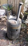 heavy duty smoker made from LP gas tank