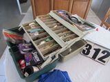 tackle box with fresh water tackle