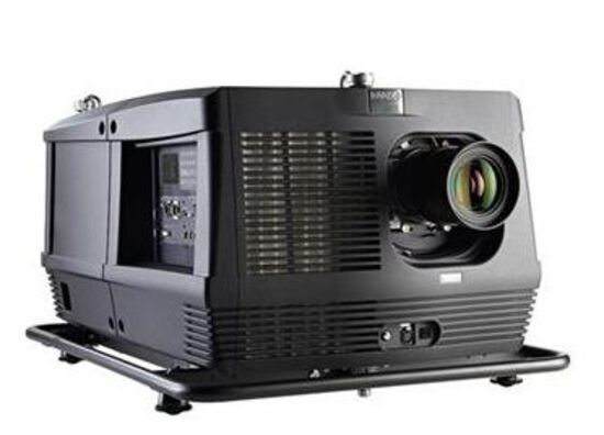 Barco HDF-W30 FLEX 30K lumins Projector with rigging frame, clamps,  case and lens