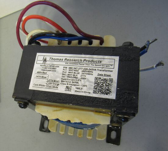 LED transformers by Thomas Research Products  480-347-277