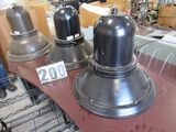"Beacon Urban LED aluminum bell shaped hanging street lights(1) brown (2) black 20""x20"""