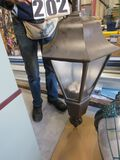 "Beacon Traditional brown hanging LED street light 42""x20"" diam"