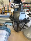 "Beacon Traditional ornate cast aluminum LED street light 38""x26"" fits 3"" post"