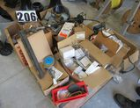 pallet of mixed electrical and hardware