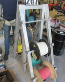 aluminum spool rack with with 6 large spools 16 gauge wire