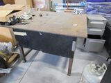 4x4 steel welding table ½ inch table top plate