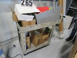 Rubbermaid cart with assorted hardware