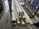 "fluted 10' aluminum light poles 5"" diameter 10ft long"