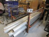 stackable open pipe and material storage rack 6' x 5' designed to be used with forklift  (pipe shown