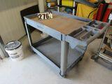 Equpright hard rubber warehouse stock cart