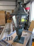 """Antique Green Victorian style LED  post light 41"""" tall x 22"""" diam fits 3"""