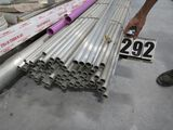 """Fluted 10' thick wall 1"""" aluminum tubing 10' long"""