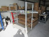 aluminum utility  cart with shelf and racks for pipe and long materials