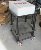 small aluminum work cart  20 inches square 31 tall