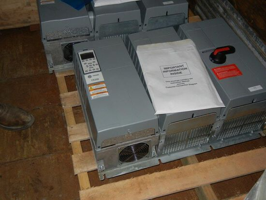 Trane TR200 15hp Variable Frequecy Drive with Bypass control