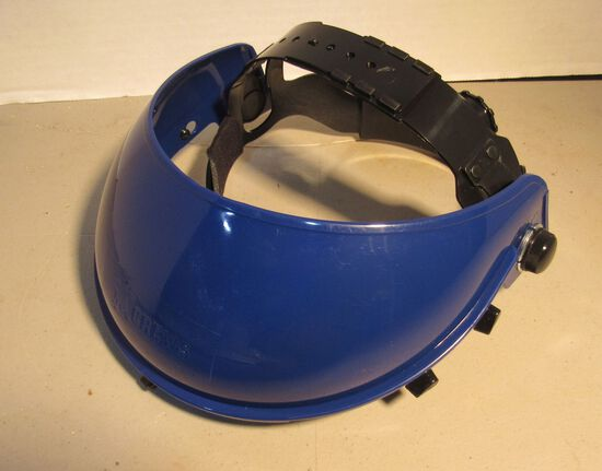 Crews partial crown adjustable head gear for safety face shiield (polycarbonate visor not included)
