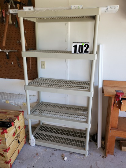 plastic shelving sections (take a part tublular type)