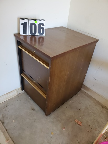 2 drawer wood home office file cabinet locking drawers key included