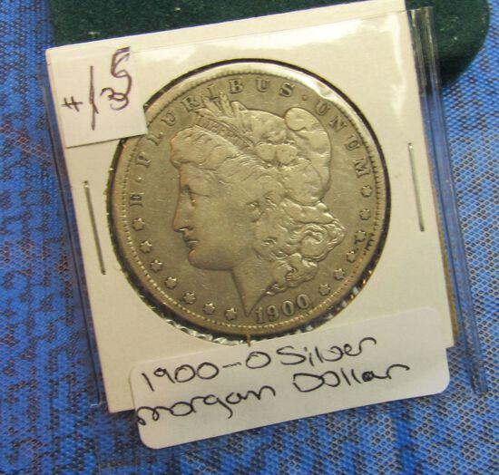 1900 O silver Morgan Dollar