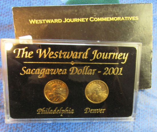 2001 Sacagawea dollar Commerorative Set from Philadelphia and Denver mints