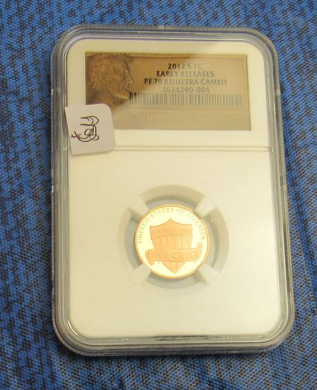 graded Early Release 2012 S Lincoln 1 cent PF70 RD Ultra Cameo