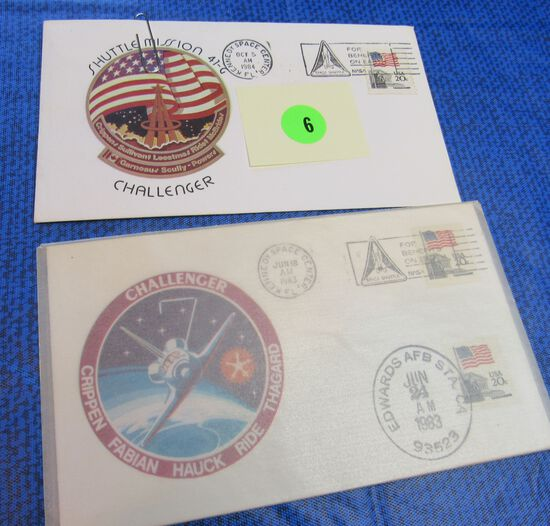pair Challenger first day issue 1983 and 1984