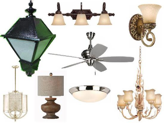 Residential Electrical Fixtures, Fans, Chandeliers