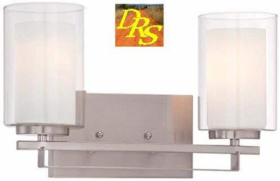 Minka Lavery 2 light brushed nickle bath vanity 6102-84   M11 393