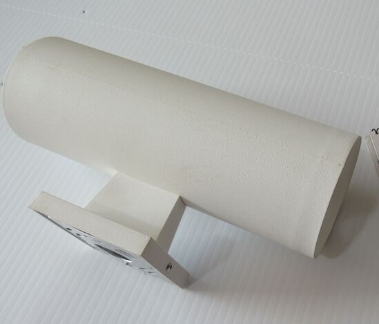 Progress Lighting outdoor white wall sconce takes bulbs top and bottom (new open box)