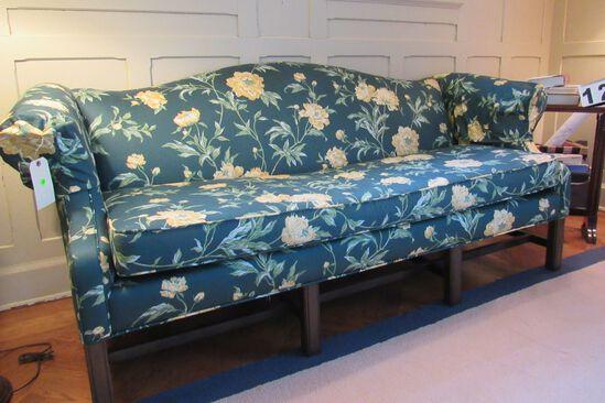 green floral design sofa  (SW sitting room)