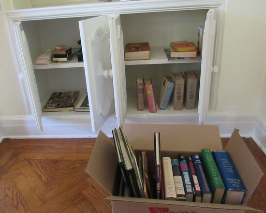 book collection - mixed novels, and coffee table books