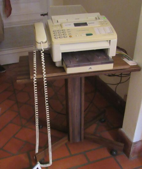 Panasonic plain paper fax with stand