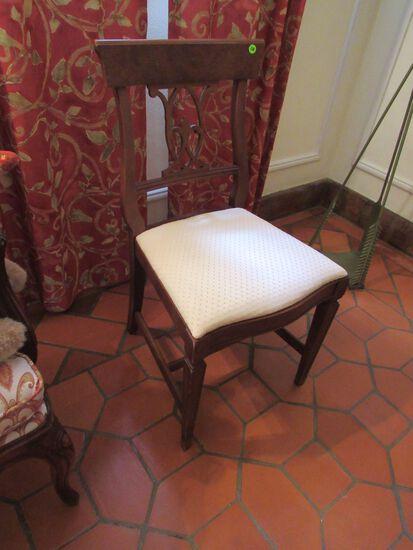 walnut finish dining chair