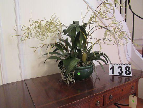 artificial orchid floral arrangement